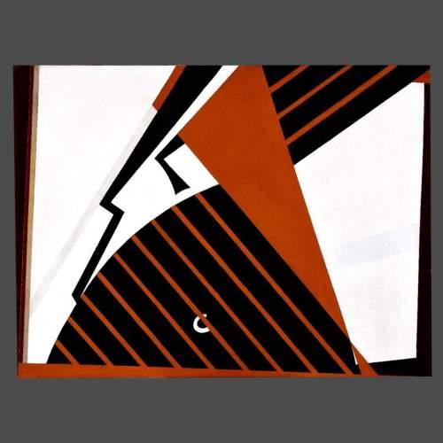 """Angelo Rinaldi  """"Rapace""""  acrilico su tela, cm.70x93,5  anno 1993  autentica autore"""