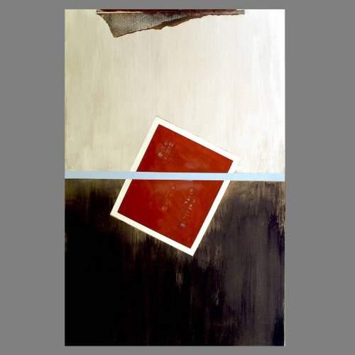 """Angelo Rinaldi  """"Astratto AR 6""""  acrilico su faesite  h.cm. 118x77  anno 2013"""
