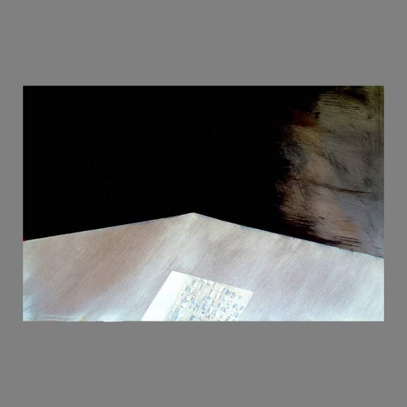 """Angelo Rinaldi  """"Astratto AR 11""""  acrilico su faesite  h.cm. 77x118  anno 2013"""