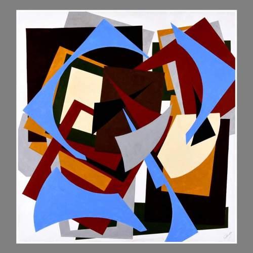 """Angelo Rinaldi  """"Vortice""""  acrilico   h. cm. 130x120  anno 2016 """
