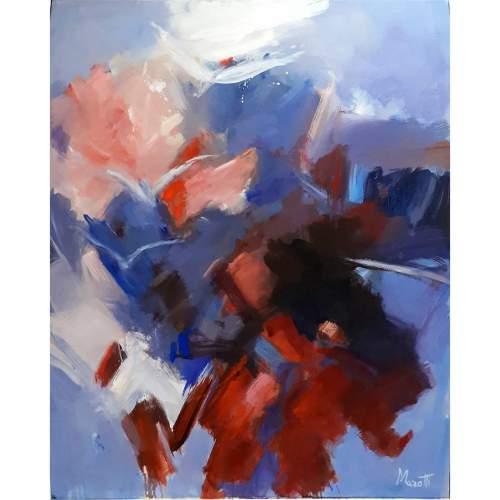 """Luigi Marotti, """"Free to dream """", olio su tela, h. cm. 100x80"""