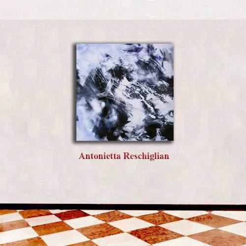 """Antonietta Reschiglian, """"Composizione"""" tecnica  mista, h.cm. 80x80"""