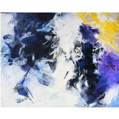 """Antonietta Reschiglian, """"Annunciando il nuovo giorno"""", tecnica mista su tela, h.cm. 80x100"""