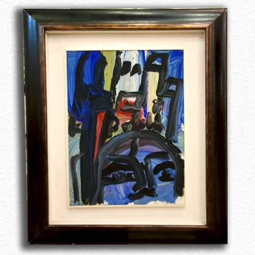 """Boldrini Gustavo """"Venezia"""", olio su tela, cm.50x70, firmato, anni '60"""