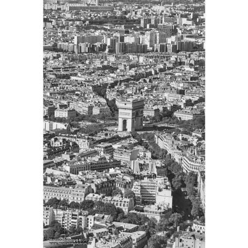 """MATTEO MUNARIN """"Arc de Triomphe"""", fotoquadro 70x40, tela canvas"""
