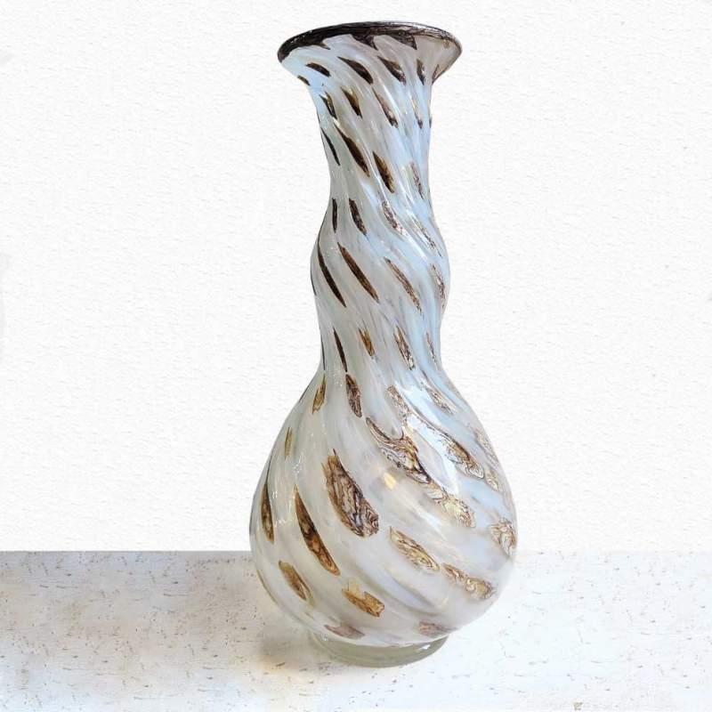 Ercole Barovier, Vaso in vetro e murrine, h.cm. 30,5x13