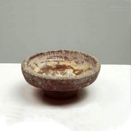 SALVIATI & C., coppa centrotavola, serie  scavo, vetro massello effetto scavo, h.cm.10x20, anno 50/60