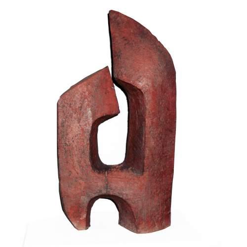"""NEREO PETENELLO  """"astratto"""" scultura in terracotta, h.cm.47x 25 x13, anno 50, unico esemplare"""