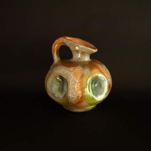 Ceramiche Italia, Albisola, brocca, smalti lucidi, h.cm.13x13, marchio, anni 50