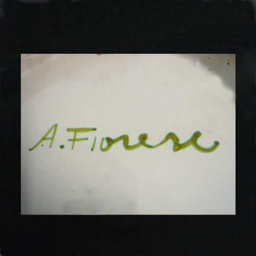 Fiorese Amedeo, scultura geometrica, ceramica, cm. 39 x 12,5, firmata Fiorese,anni '50
