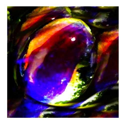 """THON """" notturno bleu """", tecnica mista su tela, cm.100x100, anno 2004"""