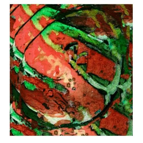 """THON """" l'Uovo rubino """", tecnica mista su carta, cm.20x20, firmato e datato 2000"""